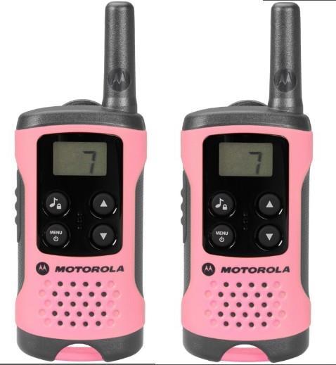Motorola TLKR T41 vysílačka - 4 km, 8 kanálů, růžová