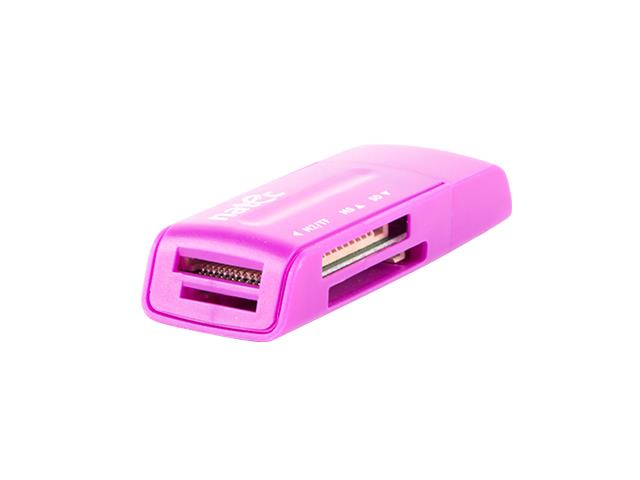 Natec Čtečka karet MINI ANT 3 SDHC, MMC, M2, Micro SD, USB 2.0 Purple