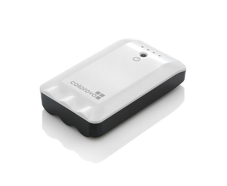 Power bank PowerBox 6800 mAh   akumulátor+svítilna, 3 koncovky, bílý