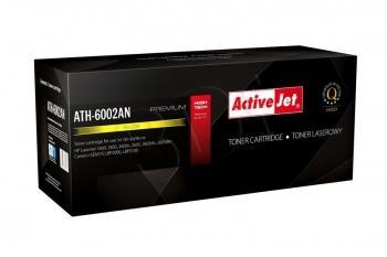 Toner ActiveJet AT-602Y | Yellow | 2000 str. | Remanuf. + new OPC | HP Q6002A