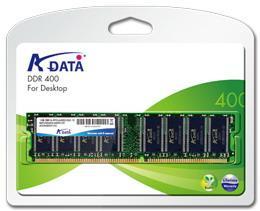 ADATA 1GB 400MHz DDR CL3 DIMM, retail