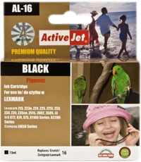 Inkoust ActiveJet AL-16   Black   13 ml   Refill   Lexmark 10N0016