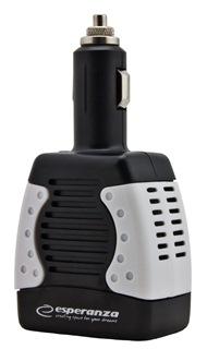 Esperanza EZ104W Měnič napětí 75W | 12V DC/220-230V AC | USB 5V/1.5A
