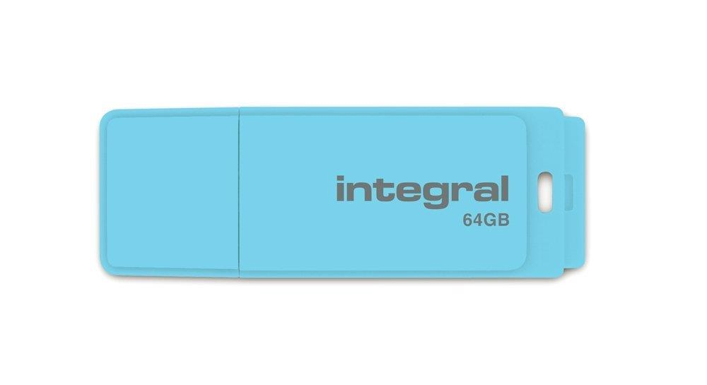 INTEGRAL Pastel 64GB USB 2.0 flashdisk, Blue Sky
