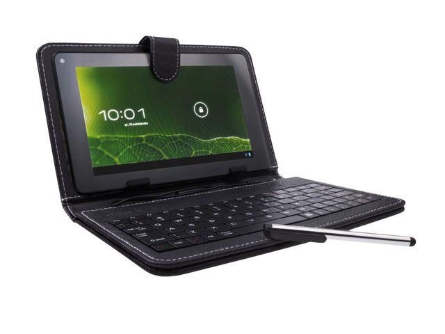 Natec SCALAR pouzdro s klávesnicí pro tablet 8'', micro USB, eko kůže, stylus