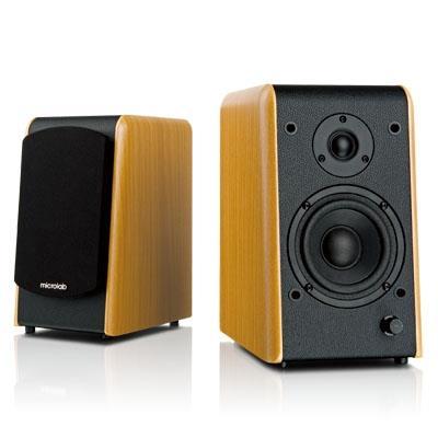 Microlab B77 stereo reproduktory 2.0, RMS 48W, MDF, barva dřeva