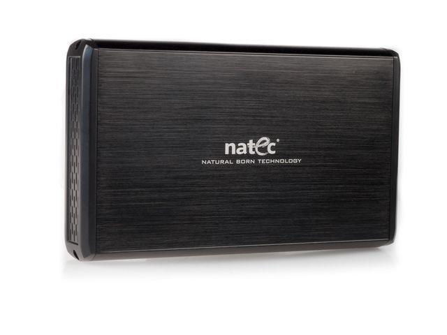 Natec RHINO Externí box pro 3.5'' SATA/IDE HDD, USB 2.0, hliníkový, černý