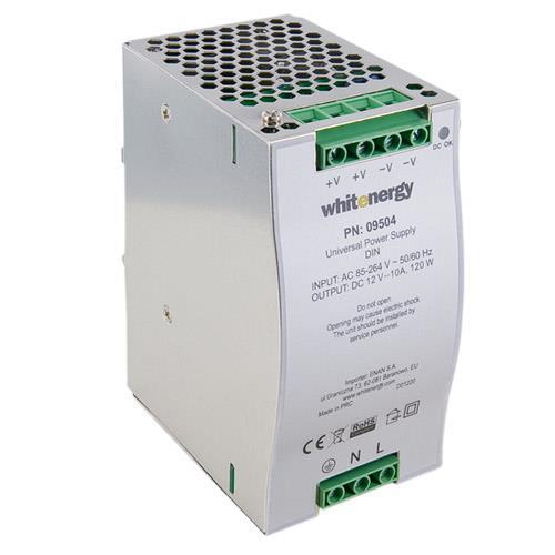 Whitenergy Univerzální napájecí zdroj 120W/DC 12V/10A /AC 90-264V