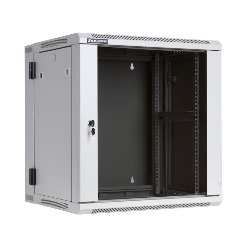 Linkbasic závěsná skříně dvě části 19'' 12U 600x550mm - šedá