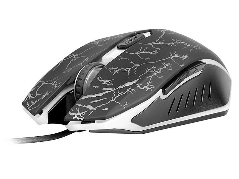 Tracer Ghost LE optická myš, 2000 DPI (AVAGO 5050), 7 tlač., USB