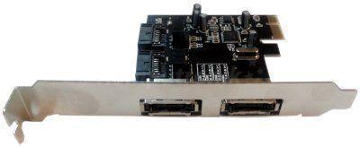 Unitek řadič PCI-E, 2x SATA II interní/externí