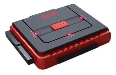 Unitek Y-1031 adaptér USB 2.0 - IDE+SATA, OTB funkce