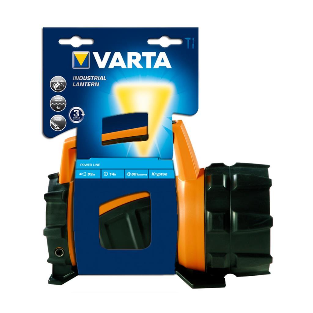 FLASHLIGHT LED INDUSTRIAL BEAM LANTERN 4D 3W (+4xD) 135 lm VARTA