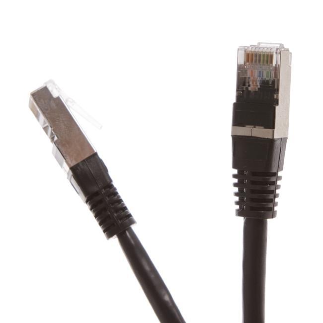 Digitalbox START.LAN patch kabel FTP cat.5e pozlacený 10m černý