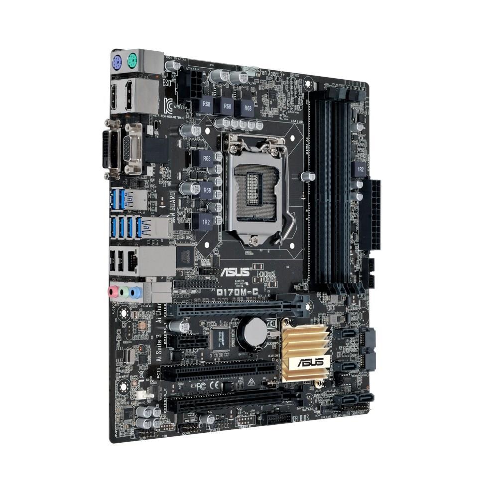ASUS Q170M-C, Q170, DDR4-2133, SATA3, DVI, D-Sub, DP, mATX