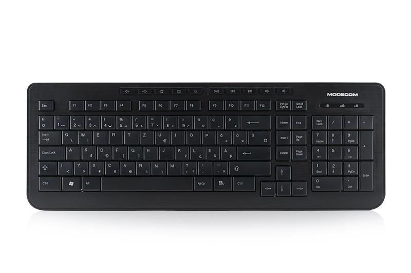 MODECOM klávesnice MC-5005 USB černá Hungarian Layout