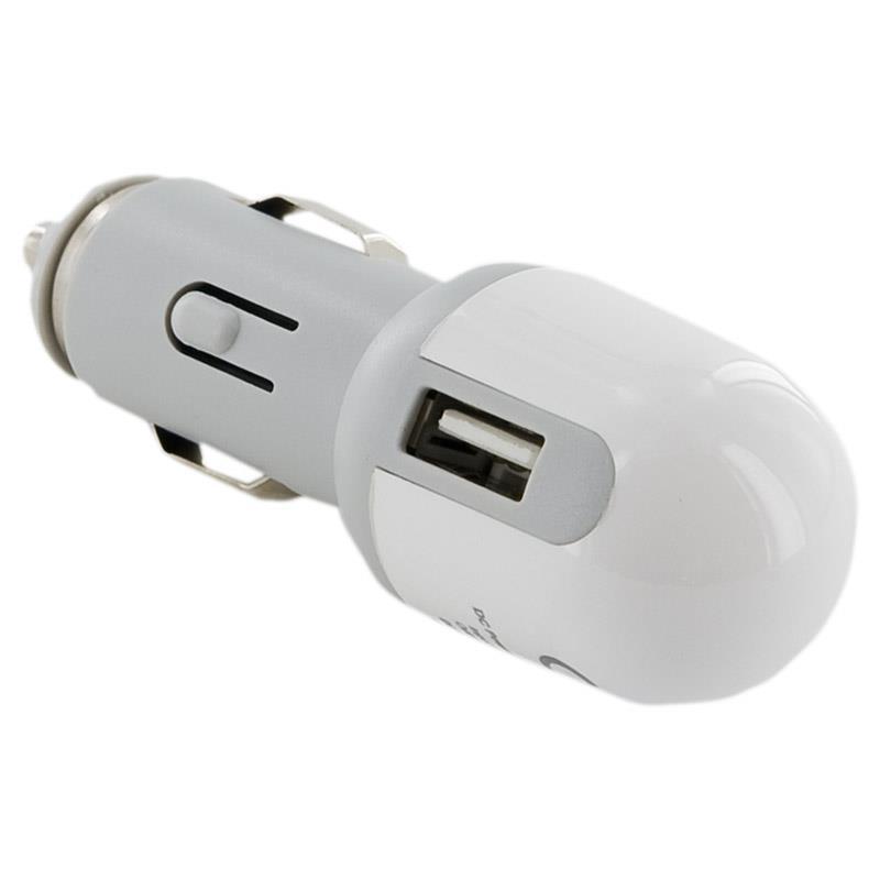 4World GSM Nabíječka do auta s USB 500mAh