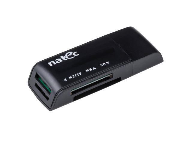Natec MINI ANT 3 Čtečka karet SDHC/MMC/M2/MicroSD USB 2.0, černá