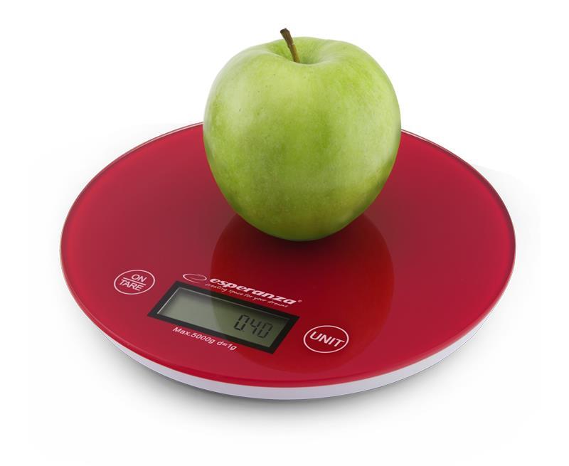 Esperanza EKS003R MANGO kuchyňská váha, červená