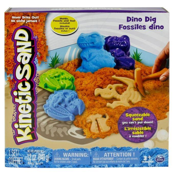 Spin Master Kinetic Sand + dino shaped moulds 340g