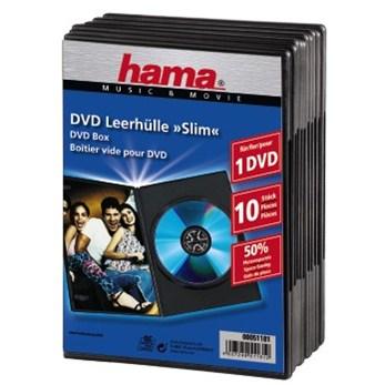 Hama DVD Slim Box 10, Black