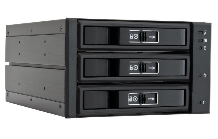 Chieftec CBP-2131SAS 2x5.25inch bays pro 3x3.5/2.5inch HDDs/SSDs, hliník
