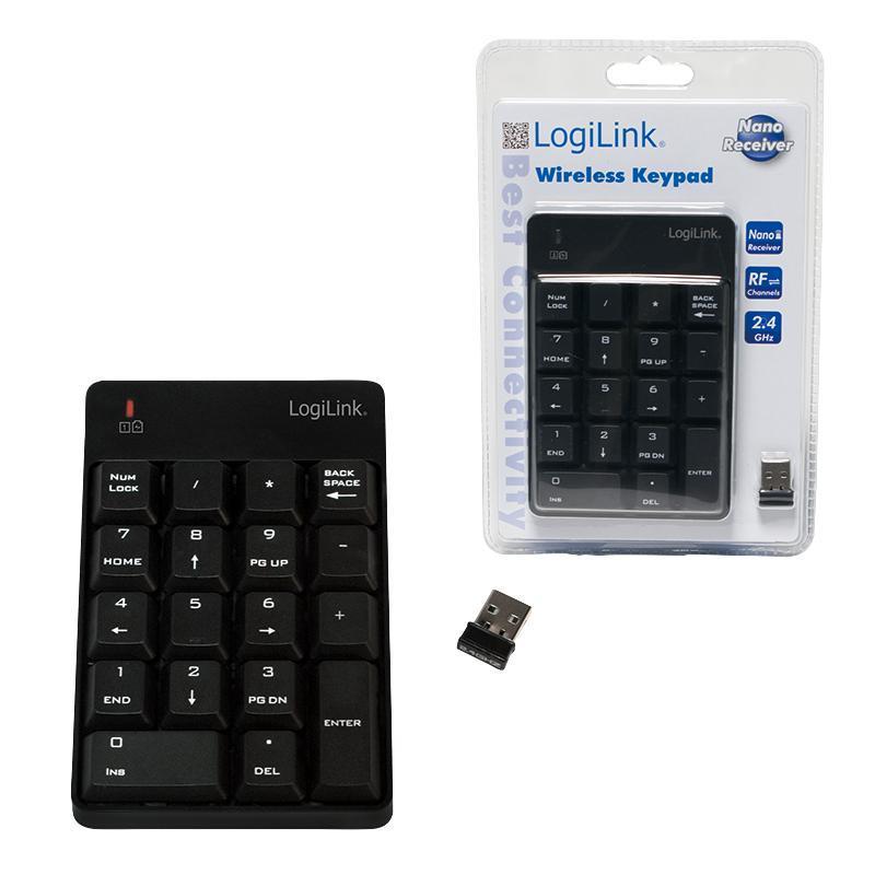 LOGILINK - Bezdrátová numerická klávesnice, 18 kláves