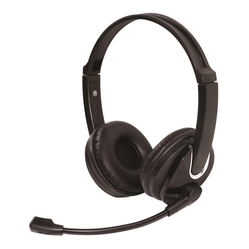 VAKOSS Stereofonní sluchátka s mikrofonem, na uši SK-504K černá
