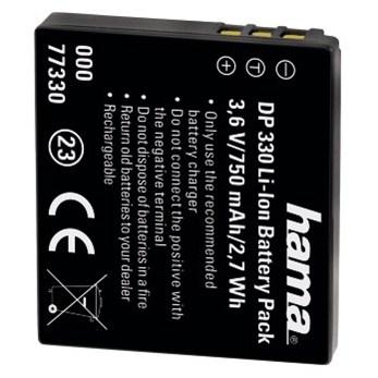 Hama fotoakumulátor Li-Ion 3,6 V/750 mAh, typ Panasonic DMW-BCE10/VBJ10, Ricoh DB70