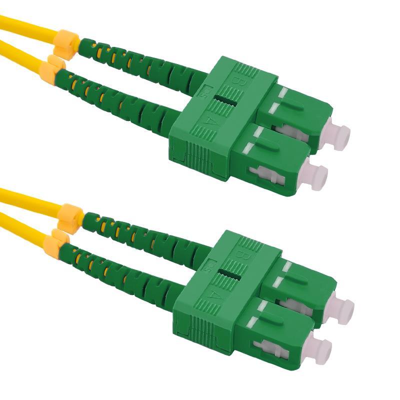 Qoltec Optic Patchcord SC/APC-SC/APC | Singlemode | 9/125 | G652D | Duplex | 1m