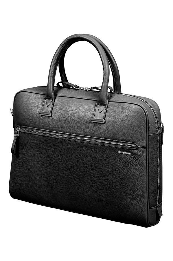 Bag bailhandle SAMSONITE 63D09002 HIGHLINE 14,1'' comp, pock. tblt, black
