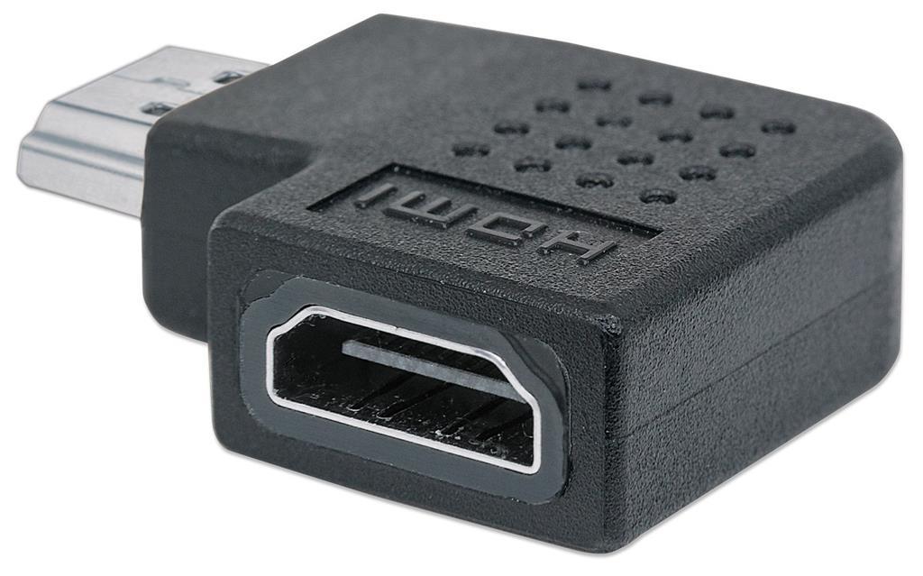 Manhattan redukce HDMI, HDMI A <-> HDMI A, M/F, zahnutý doprava 90°