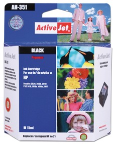 Inkoust ActiveJet AH-351 | Black | 20 ml | Refill | HP C9351A
