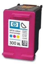 HP 300XL Tri-color Ink Cart, 11 ml, CC644EE