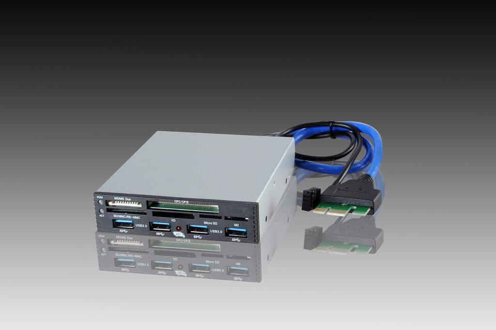 I-BOX Čtečka karet PCI-EX to USB3.0, interní, černá