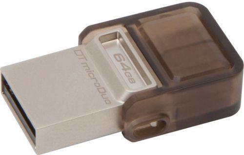 Kingston DataTraveler microDuo 64GB OTG USB 2.0 flashdisk, USB + micro USB