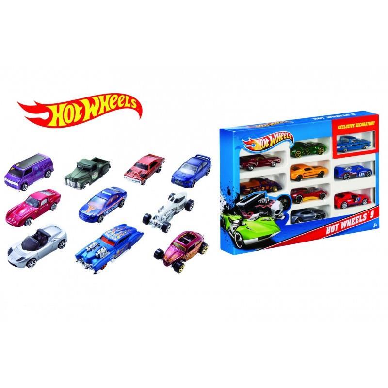Mattel Hot Wheels metal cars, 10 pcs, 1:64
