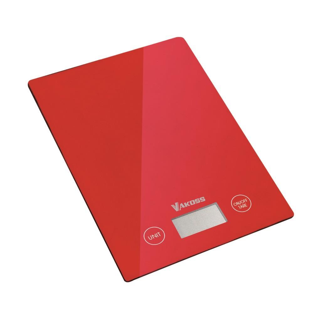 Vakoss kuchyňská váha WH-5368R | červená