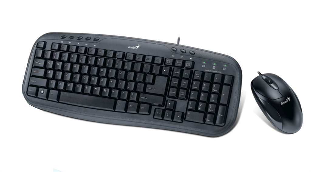 KM-210 Black USB Wird KB+Mouse Combo Multimedia keyboard, US layout
