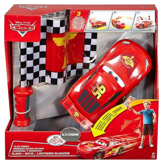Mattel Cars McQueen Controlled by the flag
