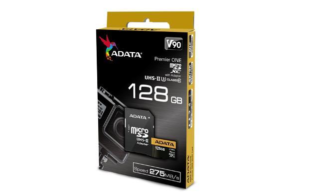 ADATA microSDXC karta 128GB Class 10 čtení/zápis 275/155MBps