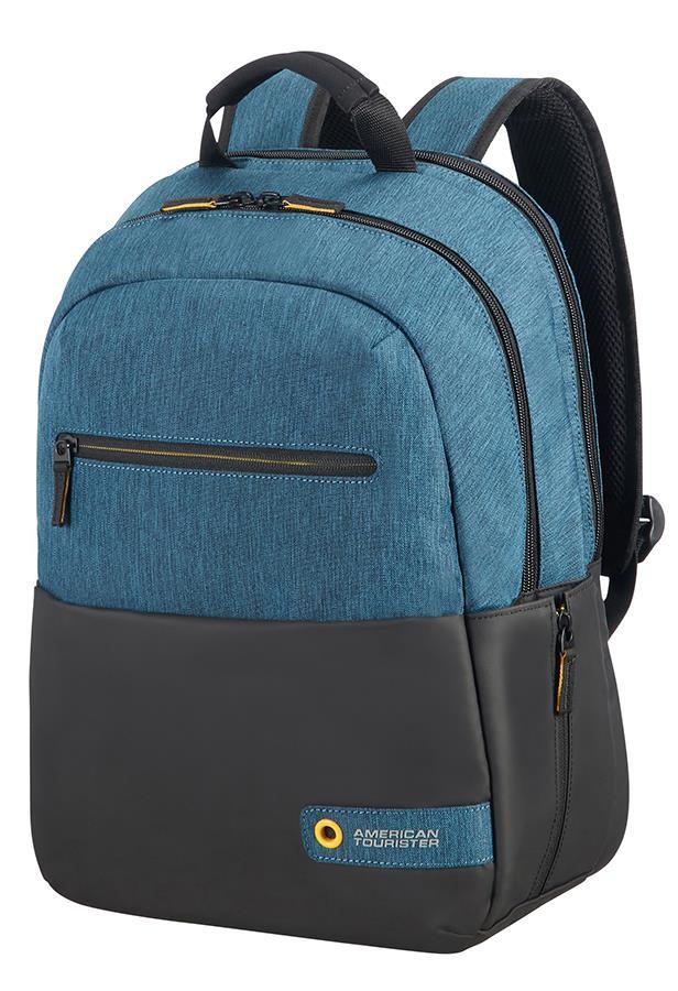 Backpack American Tourister 28G19001 CD 13,3-14,1'' comp, doc, tblt, pock, blk/b