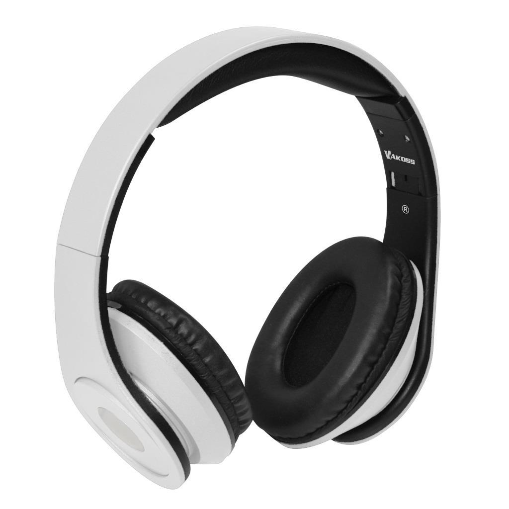 VAKOSS Sluchátka s mikrofonem, na uši SK-378W bílá