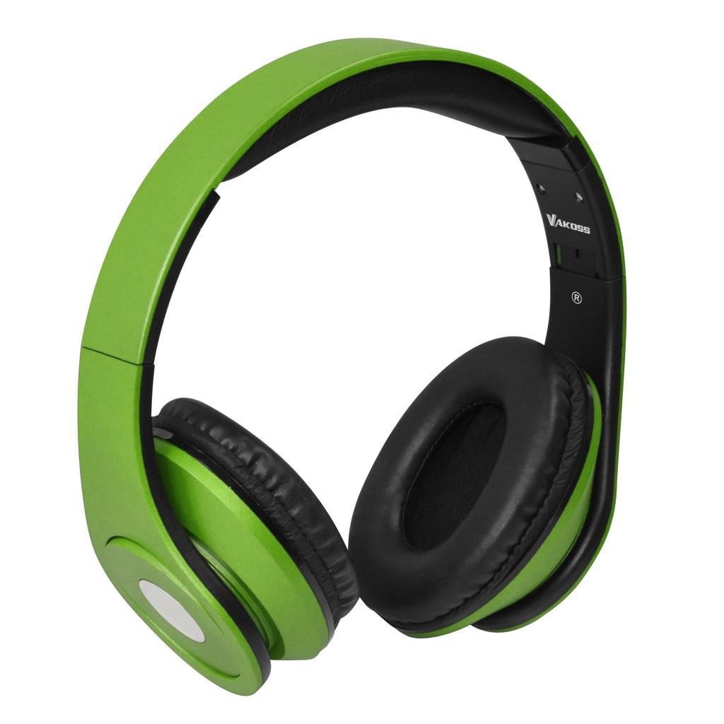 VAKOSS Sluchátka s mikrofonem, na uši SK-378E zelená