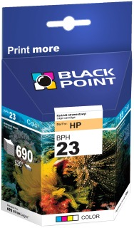 Ink Black Point BPH23 | Color | 39 ml | 690 p. | HP C1823