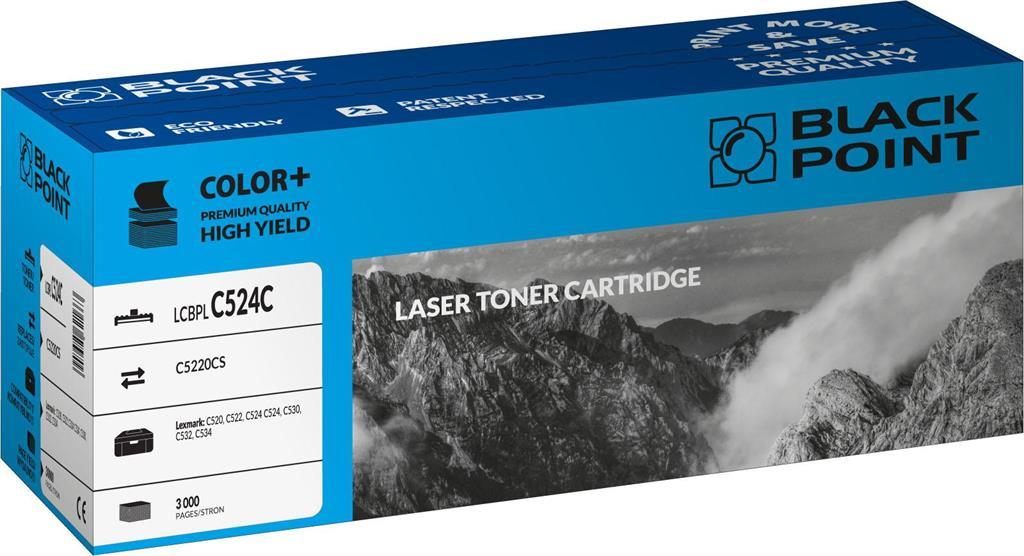 Toner Black Point LCBPLC524C | cyan | 3000 pp | Lexmark | C5220CS
