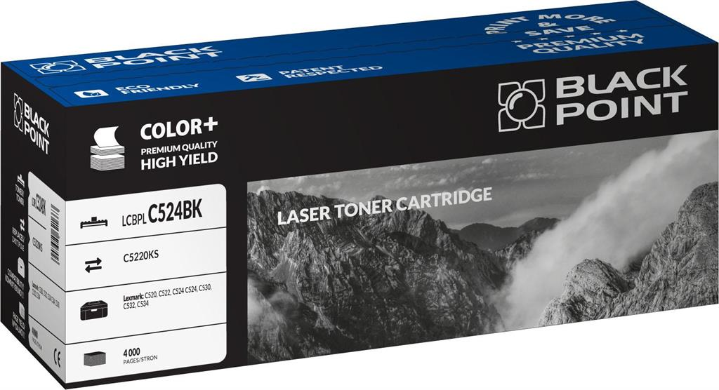 Toner Black Point LCBPLC524BK | black | 4000 pp | Lexmark | C5220KS