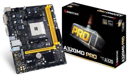Biostar A320MD PRO, AM4, AMD A320, DDR4-2667, 4 x SATA3, 2 x USB 3.1