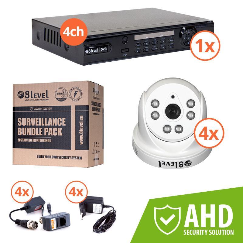 8level KIT AHD camera iinternal 4xAHD-I720-363-3 1xDVR-AHD-1080P-041-1