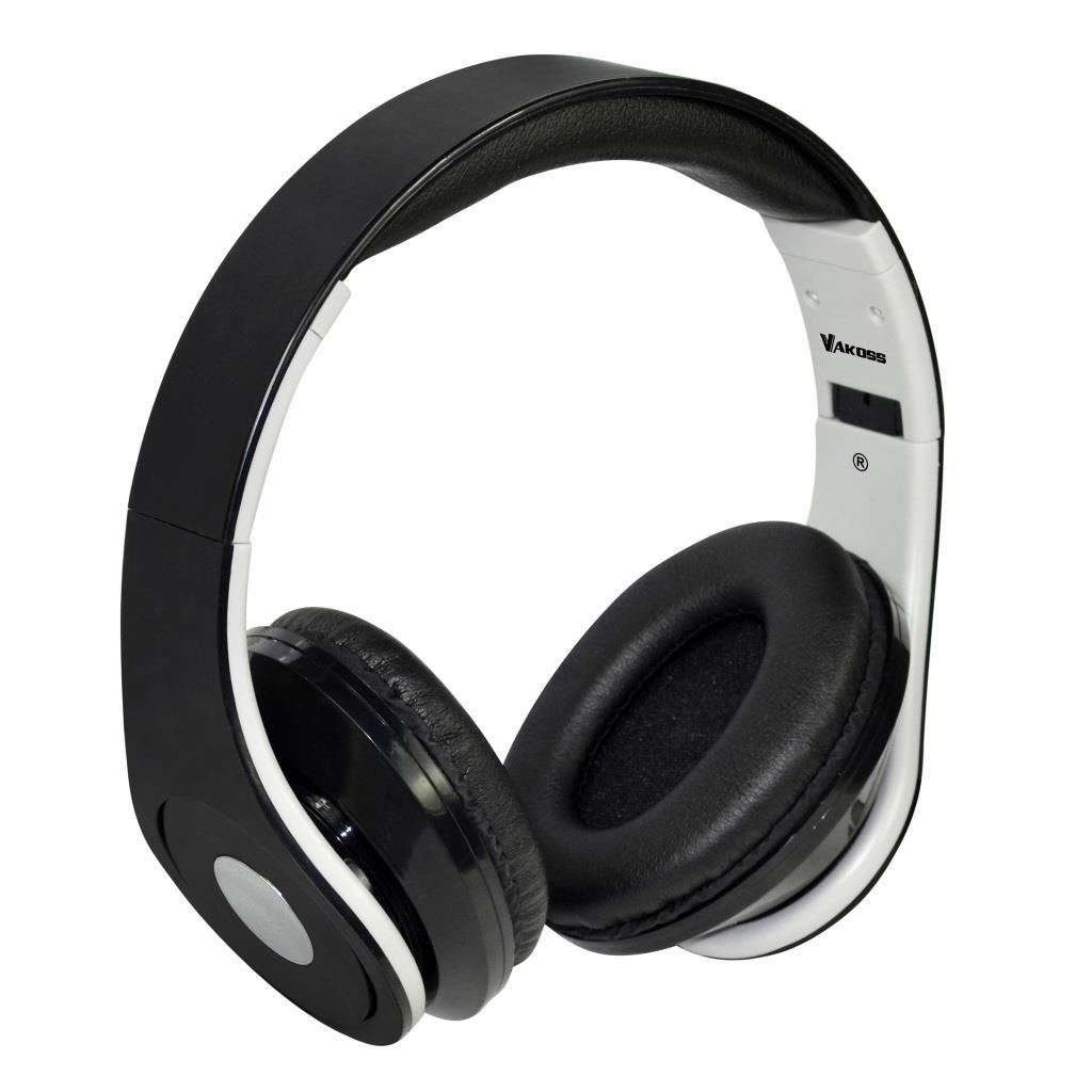 VAKOSS Sluchátka s mikrofonem, na uši SK-378K černá